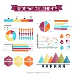 Variedad de elementos infográficos