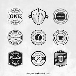 Variedad de emblemas de vintage