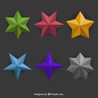 Variedad de estrellas poligonales
