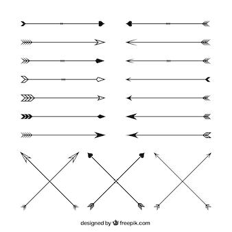 Variedad de flechas