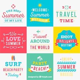 Variedad de fondos de verano