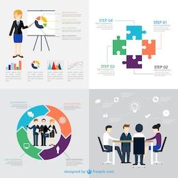 Variedad de infografía de negocio