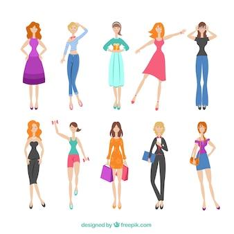 Variedad de mujer de moda