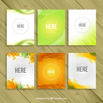 Variedad de plantillas de folletos