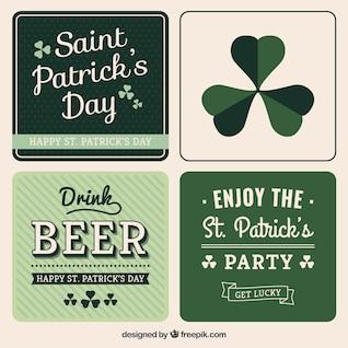 Variedad de tarjetas de San Patricio