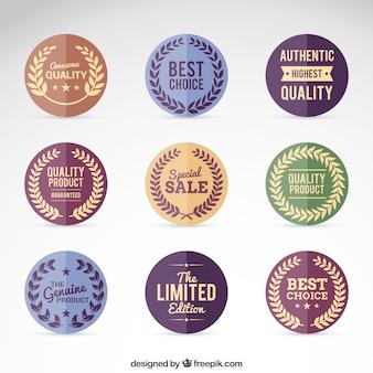 Variedad de insignias de estilo vintage