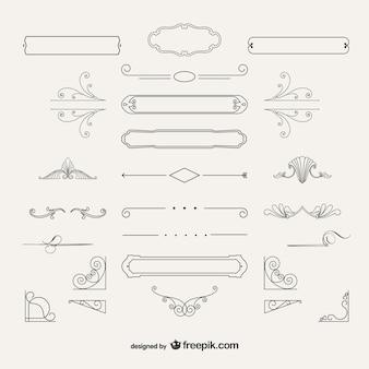 Variedad de decoraciones ornamentales