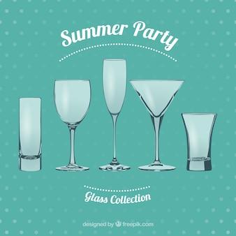 Vasos de fiesta de verano