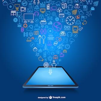 Vector aplicación móvil