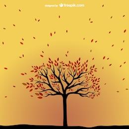 Vector árbol de otoño