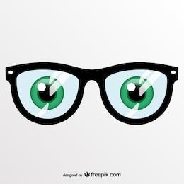 Vector artístico de gafas