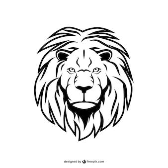 Vector artístico de león