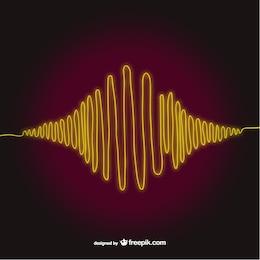 Vector artístico de ondas de sonido