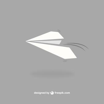 Vector avión de papel