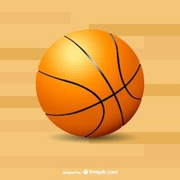 Vector balón de baloncesto