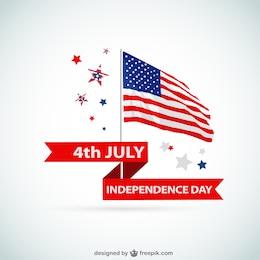 Vector bandera de Estados Unidos para el Día de la Independencia