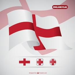 Vector bandera de Inglaterra
