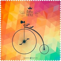Vector bicicleta retro con fondo de colores