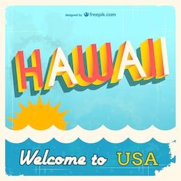 Vector bienvenido a Hawai