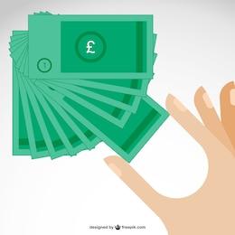 Vector billetes de libras esterlinas