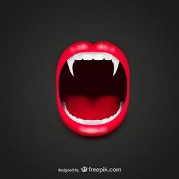 Vector boca de vampiro