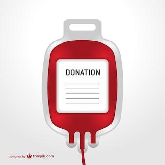 Vector bolsa de transfusión sanguínea