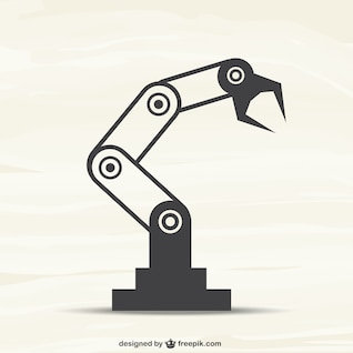 Vector brazo robótico
