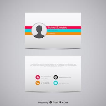 Plantilla de tarjeta de visita con colores