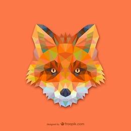 Vector cabeza  de zorro