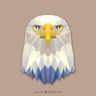 Vector cabeza de águila