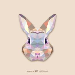 Vector cabeza de conejo