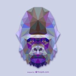 Vector cabeza de gorila