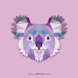Vector cabeza de koala