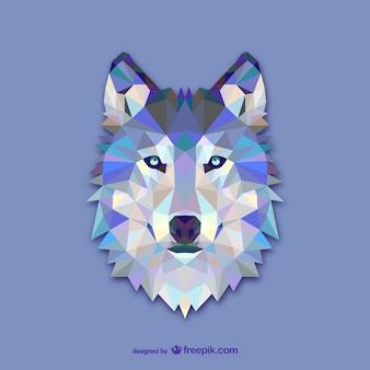 Vector cabeza de lobo