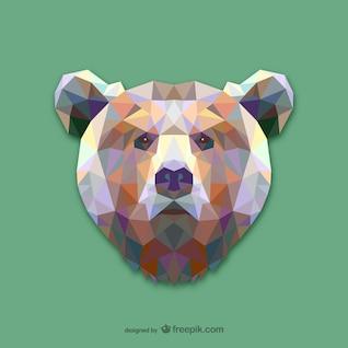 Vector cabeza de oso