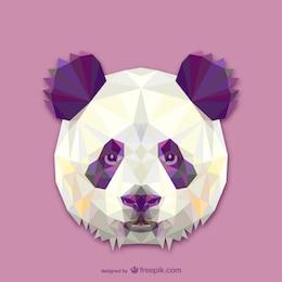 Vector cabeza de panda