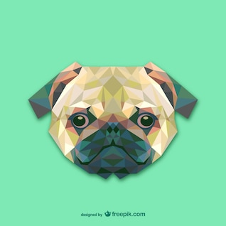 Vector cabeza de perro