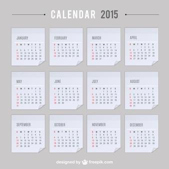 Vector calendario de 2015