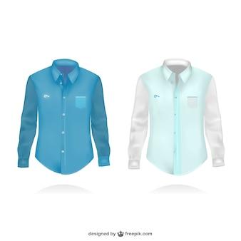 Vector camisas de manga larga