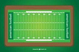Vector campo de fútbol americano