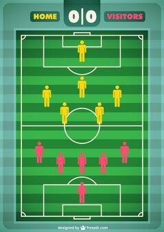 Vector campo de fútbol