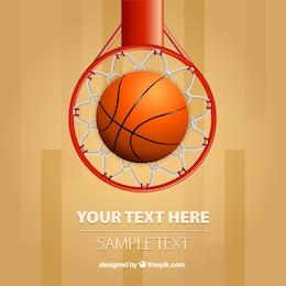 Vector canasta de baloncesto