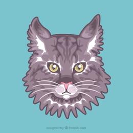 Vector cara de gato
