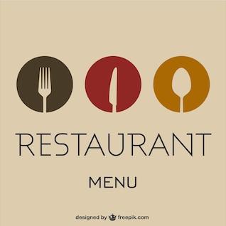 Vector carta de restaurante