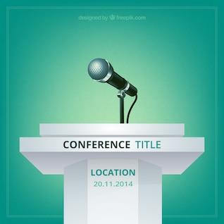 Vector cartel de conferencia