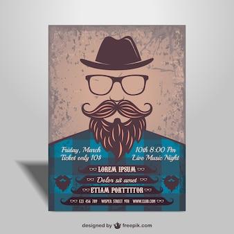 Vector cartel para fiesta estilo hipster