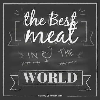 Vector mejor carne en el mundo