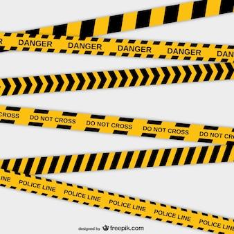 Vector cintas de policía