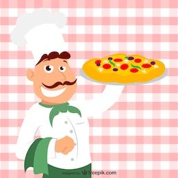 Vector cocinero italiano