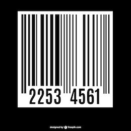 Vector código de barras de supermercado